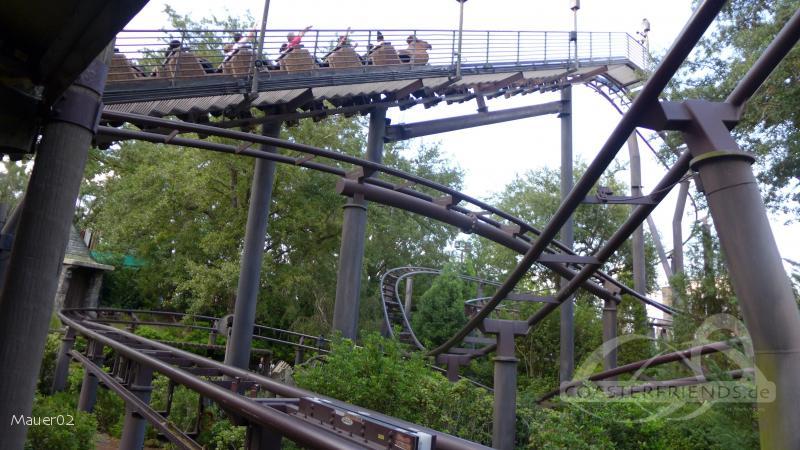 Flight of the Hippogriff im Park Universal Studios Islands of Adventure Impressionen
