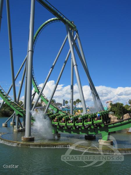 Incredible Hulk im Park Universal Studios Islands of Adventure Impressionen
