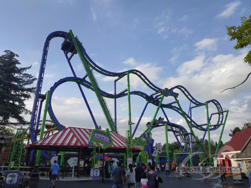 Joker im Park Six Flags Great America Impressionen