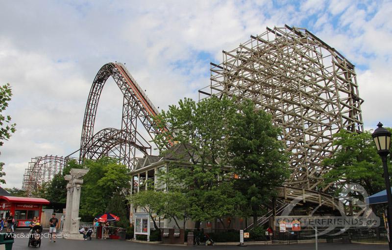 Goliath im Park Six Flags Great America Impressionen