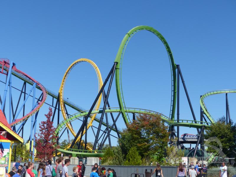 Green Lantern im Park Six Flags Great Adventure Impressionen