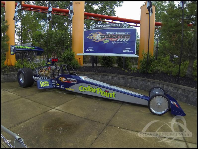 Top Thrill Dragster im Park Cedar Point Impressionen