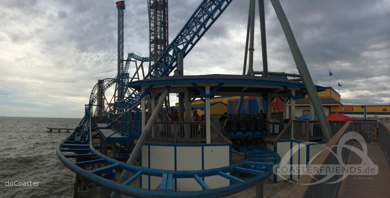 Iron Shark im Park Galveston Island Historic Pleasure Pier Impressionen