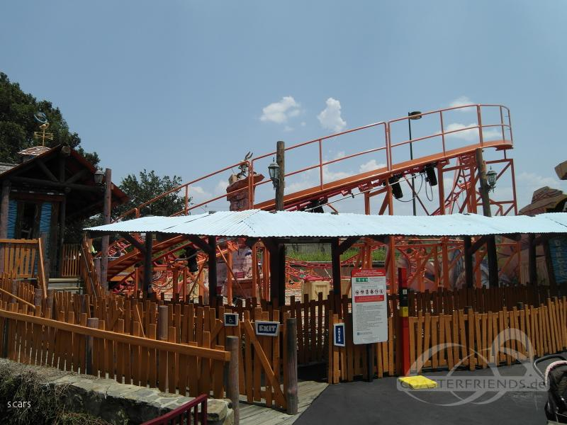 Wile E. Coyote's Grand Canyon Blaster im Park Six Flags Over Texas Impressionen