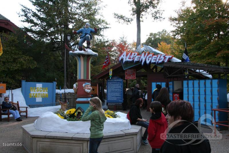 Alpengeist im Park Busch Gardens Williamsburg Impressionen