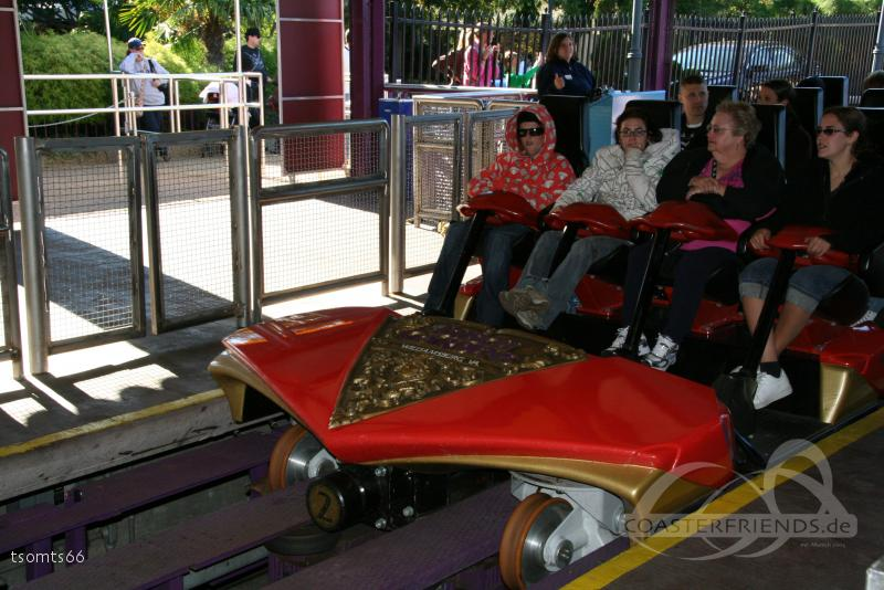 Apollo's Chariot im Park Busch Gardens Williamsburg Impressionen